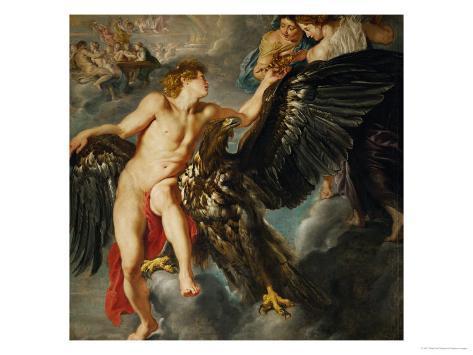 Zeus and Ganymede Stampa giclée