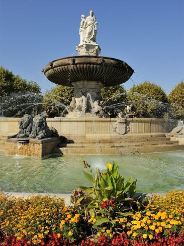 Fontaine de la rotonde rotunda fountain aix en provence for Ca bouche du rhone