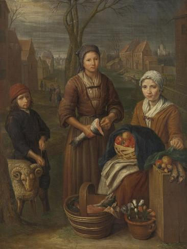 Woman Peddler, Peter Snijers Art Print