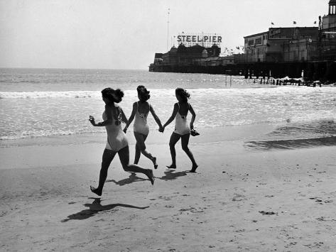 Beach at Atlantic City, the Site of the Atlantic City Beauty Contest Photographic Print