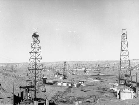 Salt Creek Field, North of Casper and Close to Historic Teapot Dome Naval Oil Reserve Photographic Print