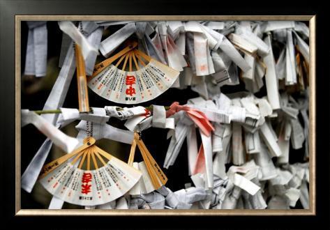 Japanese Shrine Wishes Framed Giclee Print