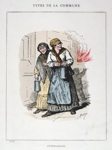 Petroleuses, Paris Commune, 1871 Giclee Print