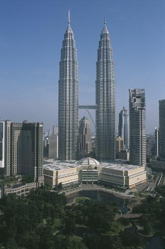 Petronas Towers Stretched Canvas Print