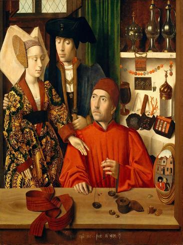 A Goldsmith in his Shop, 1449 Lámina giclée