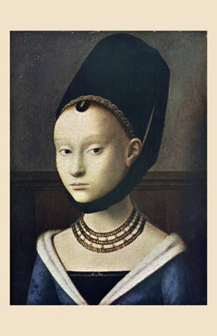 Portrait de Jeune Femme Lámina