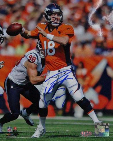 Peyton Manning Signed vs Houston Texans Autographed Photo (Hand Signed Collectable) Photo