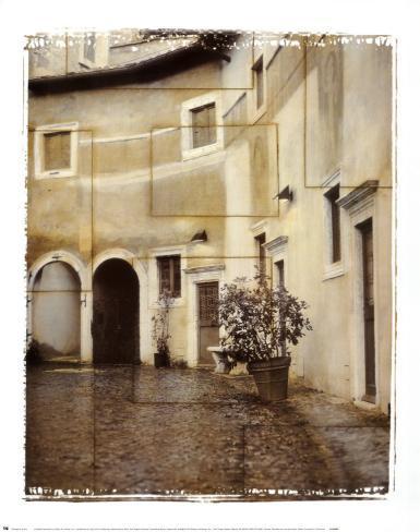 Italian Courtyard II Art Print