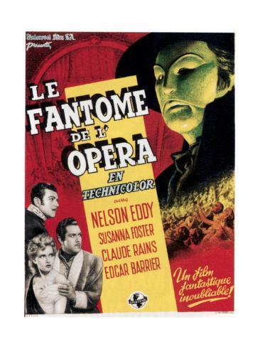 Phantom of the Opera, (aka Le Fantome De L'Opera), 1943 Giclee Print