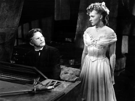 Phantom Of The Opera, Claude Rains, Susannah Foster, 1943 写真
