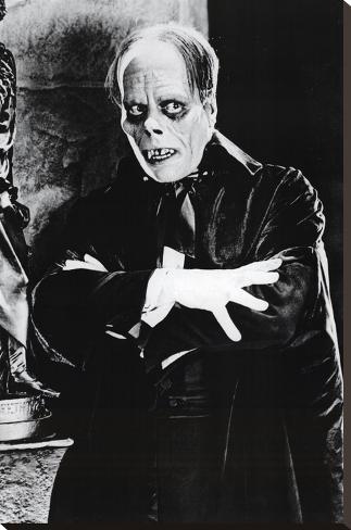 Phantom of the Opera Movie (Lon Chaney) Poster Print Impressão em tela esticada