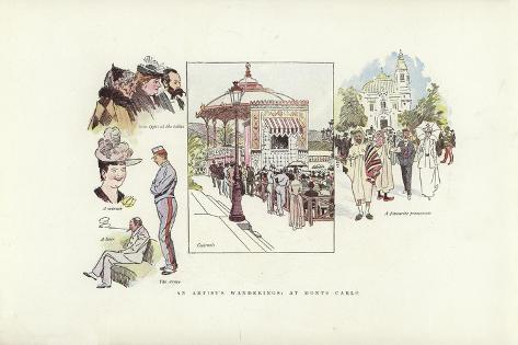 An Artist's Wanderings, at Monte Carlo Giclee Print