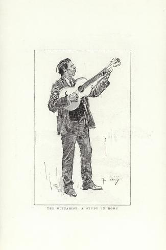 The Guitarist, a Study in Rome Giclee Print