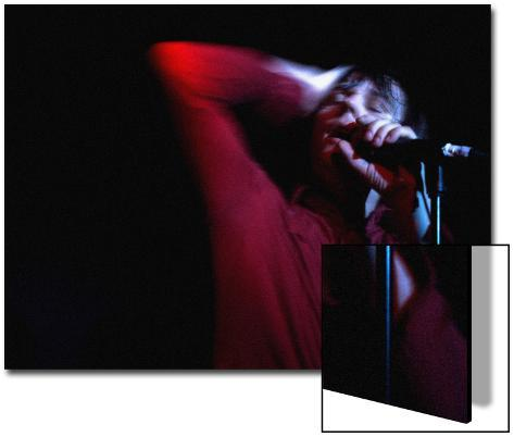 Performer on Stage at Microphone Art on Acrylic