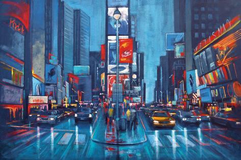 Times Square Blue Art Print