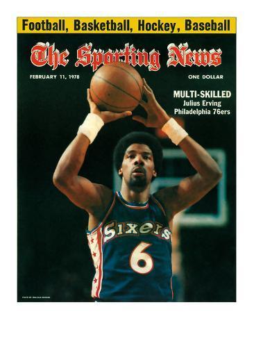 Philadelphia 76ers' Julius Erving - February 11, 1978 Photo