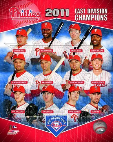 Philadelphia Phillies 2011 NL East Champions Composite Photo