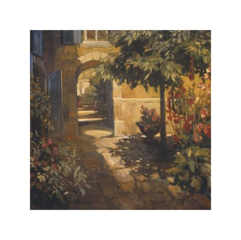 Courtyard in Provence Giclee Print
