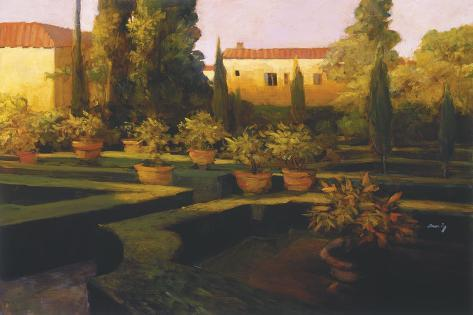 Verona Garden Stretched Canvas Print