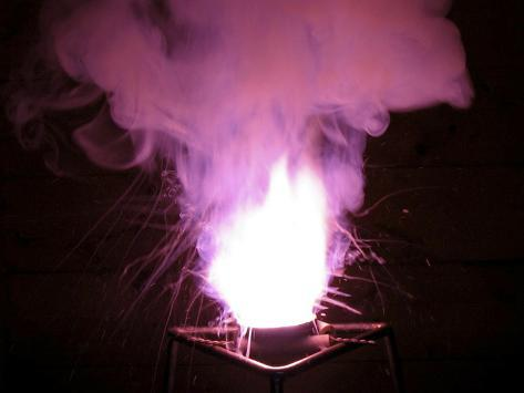 Reaction of Potassium Chlorate and Icing or Powdered Sugar Photographic Print