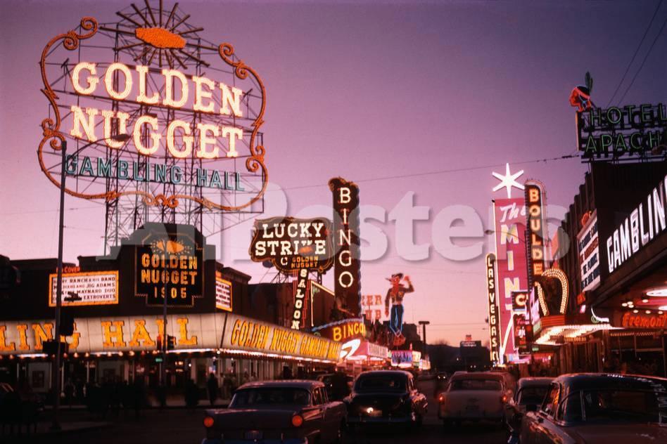 Las Vegas 94 >> Fremont Street In Las Vegas Photographic Print By Philip Gendreau At