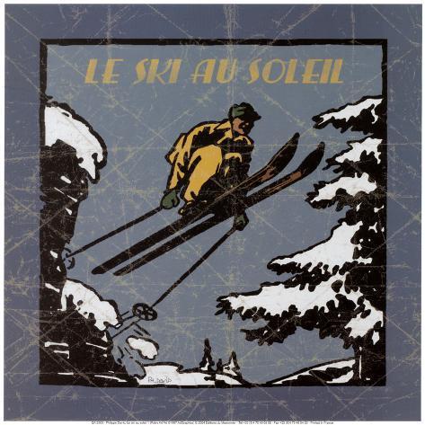 Le Ski au Soleil I Art Print