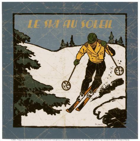 Le Ski au Soleil II Art Print