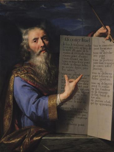 Moses with the Tablets of the Law, 1663 Lámina giclée