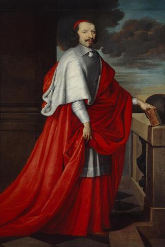 Portrait of Cardinal Mazarin, after 1650 Lámina giclée
