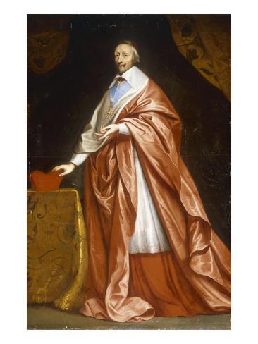 Portrait of Cardinal Richelieu Lámina giclée