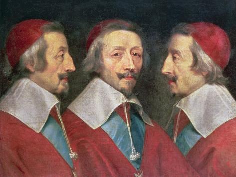 Triple Portrait of the Head of Richelieu, 1642 Giclee Print