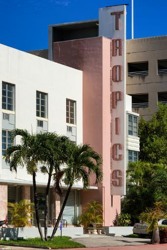 Art Deco Architecture Of Miami Beach The Tropics Hotel Florida