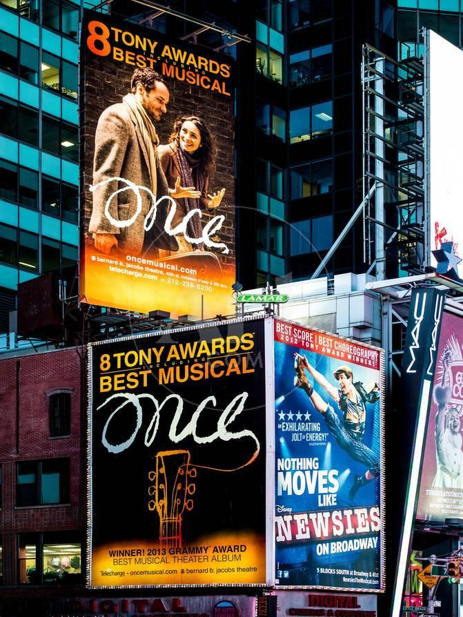 Billboards Best Musicals On Broadway And Times Square At Night Manhattan New York Photographic Print Philippe Hugonnard Allposters Com
