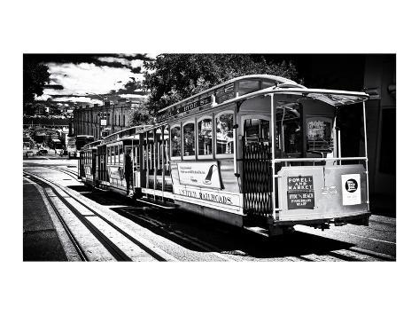 Cable Cars - Streets - Downtown - San Francisco - Californie - United States Photographic Print
