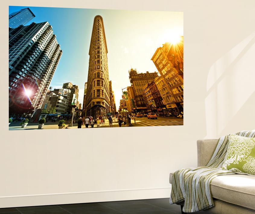 Cityscape Sky And Sun Colors Flatiron Building 5th Ave Manhattan