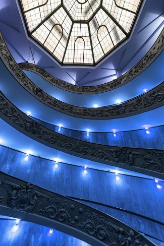 Dolce Vita Rome Collection - Blue Vatican Staircase Photographic Print