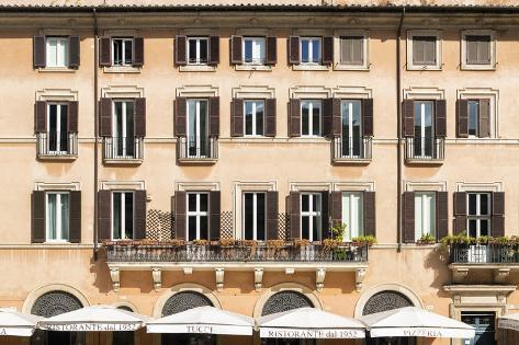 Dolce Vita Rome Collection - Building Facade Orange Photographic Print