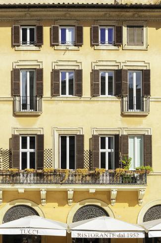 Dolce Vita Rome Collection - Building Facade Yellow II Photographic Print