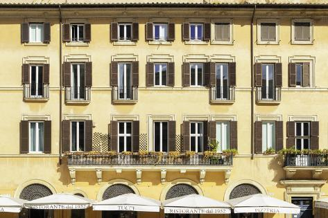 Dolce Vita Rome Collection - Building Facade Yellow Photographic Print
