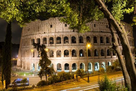 Dolce Vita Rome Collection - Colosseum at Night Photographic Print
