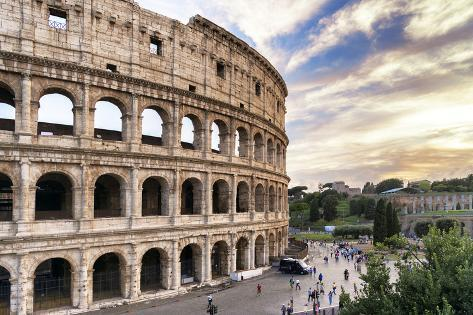 Dolce Vita Rome Collection - Colosseum at Sunset III Photographic Print