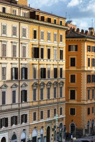 Dolce Vita Rome Collection - Italian Orange Facade Photographic Print