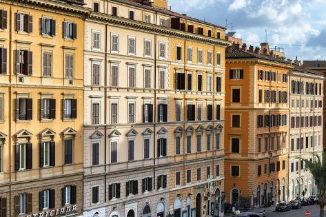 Dolce Vita Rome Collection - Italian Orange Facades Photographic Print