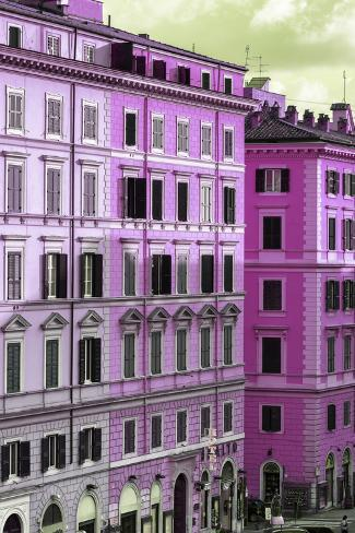 Dolce Vita Rome Collection - Italian Pink Facade Photographic Print