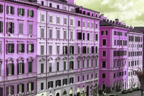 Dolce Vita Rome Collection - Italian Pink Facades Photographic Print