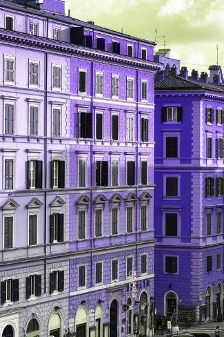 Dolce Vita Rome Collection - Italian Purple Facade Photographic Print