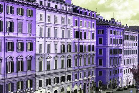 Dolce Vita Rome Collection - Italian Purple Facades Photographic Print