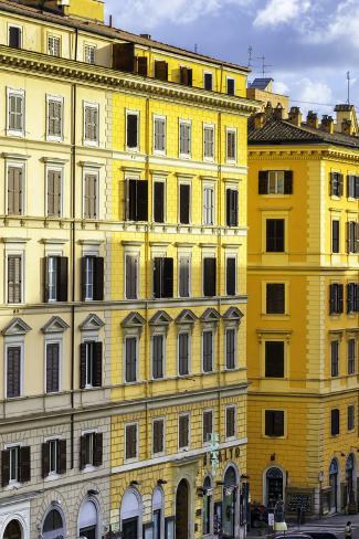 Dolce Vita Rome Collection - Italian Yellow Facade Photographic Print