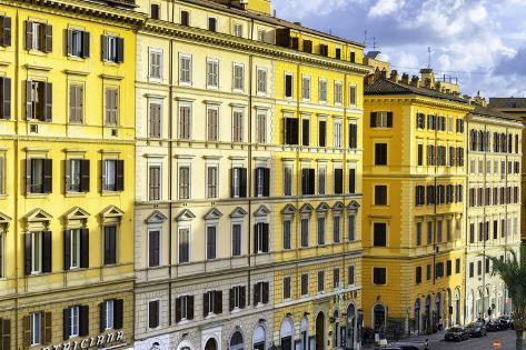 Dolce Vita Rome Collection - Italian Yellow Facades Photographic Print