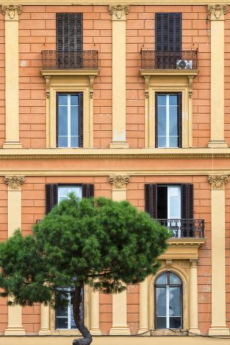 Dolce Vita Rome Collection - Orange Building Facade II Photographic Print